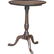 Antique English Tilt-Top Mahogany Candle Stand Side Table
