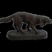 Parisian Hunting Dog Sculpture Statue