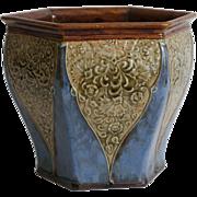 Antique English Royal Doulton Art Nouveau Jardiniere Cache Pot