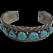 SALE Navajo James Shay Turquoise Cuff Bracelet