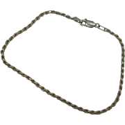 """SALE Very Nice Italian 7 1/2"""" Sterling Rope Bracelet"""