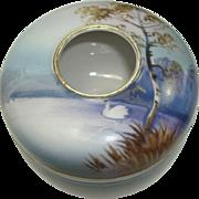 SALE CLOSEOUT!!!!   Beautiful Noritake Porcelain Scenic Hair Receiver