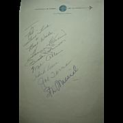 Stan Musial-Hank Aaron-Harmon Killebrew-Brooks Robinson Plus More Autographs