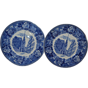 REDUCED Wedgwood Plates set of two Blue and White collectible