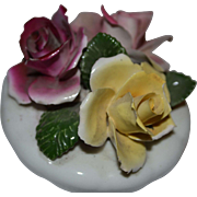 REDUCED Vintage Chorley English Bone China Rose Flowers Figurine