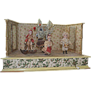 Antique very rare christmas toy from Austria of 1890 - wooden with music and movement in ...