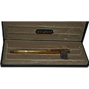 Parker 75 Vermeil silver gold plated ballpoint  with lapis on the top