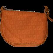Authentic Fendi monogram canvas handbag