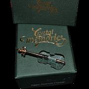 Swarovski miniature violin