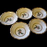 Vintage christmas bowls set of 5 BAVARIA Schumann Arzberg porcelain gold gilded / christmas ..