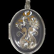 Reed & Barton Art Nouveau Style Locket Pendant