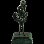 SALE Art Deco Style Bronze on Marble Statue