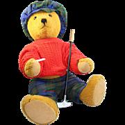 Quality German Bing Golfing Teddy Bear