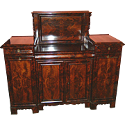 19th Century Antique French Mahogany Server, Sideboard, Buffet also Writing Desk For Office