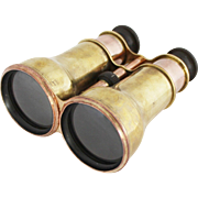 Vintage Pair of C.W. Dixey Optician Brass Binoculars Theater Glasses Opera Glasses