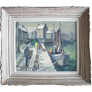 SALE Jacques A. PREVOST c1950 French Impressionist Style Oil Painting.