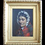 SALE Robert Edward Morrison, 1851-1924  Portrait of a  Manx Fisherwoman, Isle of Man. Oil ...