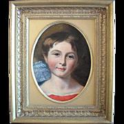 SALE 19th Century Irish School Portrait of a Child, Oil Painting.