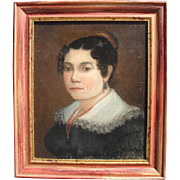 SALE Portrait of an Elegant Woman, French School, c1840 Oil Painting.