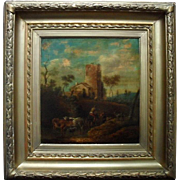 Pieter Berghoen de Jonge (1700-1740) Dutch Master Oil Painting, Signed, Dated 1731 Landscape.