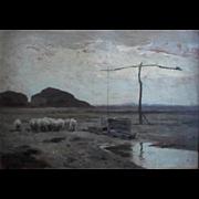 SALE Aladar Edvi ILLÉS (1870-1958) Hungarian Impressionist Oil Painting