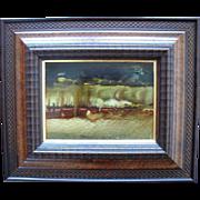 Padraig Macmiadhachain (Irish, B.1929) Lanzarote Landscape, Abstract Expressionist, Oil ...