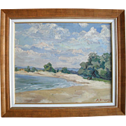 Alexandre Metchkonevska.Russian/French Impressionist 1936 Oil Painting