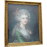 18th Century French School Pastel. Portrait of an aristocrat c1790.
