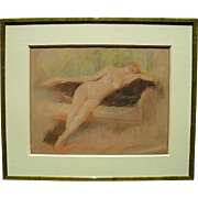 Eugène BERINGUIER (1874-1949) Belle Époque Pastel Drawing c1900.