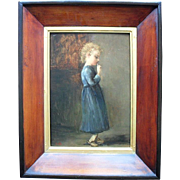 Flemish/ Dutch school late 19th century. Signed with initials HB Oil Painting