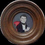 Bouchet , Early 19th Century French School Portrait Miniature