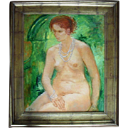 Mic MULLER (1928) Modern French school Nude Oil Painting
