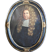 Francois Freard (1656-1702) French School Portrait c1690 Oil Painting
