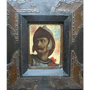 Signed Arts & Crafts Period Portrait of a Soldier c1900 Oil Painting