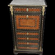 Antique Napoleon III Inlaid Secretaire Desk