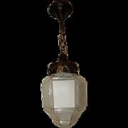 Craftsman, Arts & Crafts,  pendant  lighting fixture w Large Shade