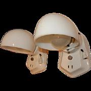 Simple White Porcelain Sconces for Bath or Kitchen