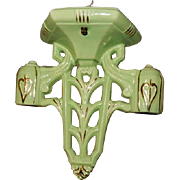 Vintage Green 2-Light Porcelain Ceiling Fixture