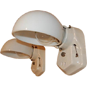 Simple Arts & Crafts White Porcelain Sconces for Bath or Kitchen