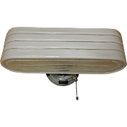 Streamline Deco Bath Sconce on Nickel Chrome Sconce