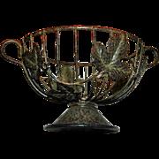 REDUCED Vintage Japanese Ivy Covered Metal Garden Basket