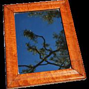 REDUCED Antique English Maple Mirror c. 1860