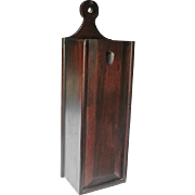 SOLD Georgian Mahogany Candle Box, Sliding Front Cover