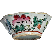 REDUCED Small Vintage Chinese Export Hand-Painted Rice Bowl