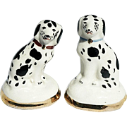 REDUCED Matched Pair Miniature Staffordshire Dalmatian Figurines
