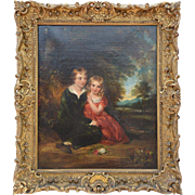 """""""Lord Gordon & His Sister"""" Attributed to Sir William Charles Ross (RA 1794-1860) in Period"""