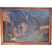 "REDUCED Oil on Canvas after George Morland's ""The First of September, Evening"" by Unknow"