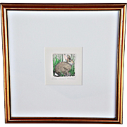 "REDUCED ""Cottontail II"": an Etching by Susan Hunt-Wulkowicz"
