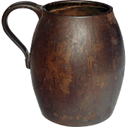 REDUCED Mid-19th Century Heavy Cast Iron Jug Marked 'A Kenrick & Son'