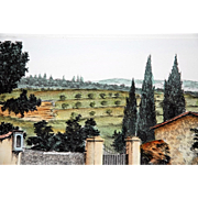 "REDUCED ""Campagna Toscana,"" Hand-Colored Etching of a Tuscan Landscape by Gianni Raffaelli"